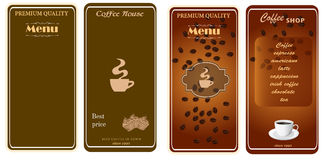 Set of menu templates for cafe Royalty Free Stock Image