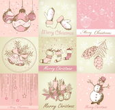 Set of Merry Christmas backgrounds Stock Photos