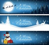 Set of Merry Christmas, banner design background. Illustration of Set of Merry Christmas, banner design background Royalty Free Stock Photography