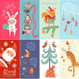 Set Merry Christmas and Happy New Year!. Merry Christmas and Happy New Year background Stock Image