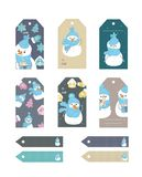 Set of Merry Christmas and New Year gift tags and cards. Vector illustration. vector illustration