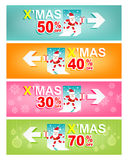 Set of Merry Christmas and New Year Sale banner.Xmas Sign concept Stock Image