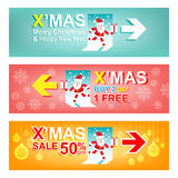 Set of Merry Christmas and New Year Sale banner.Xmas Sign concept Royalty Free Stock Image