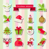 Set of Merry Christmas stickers Royalty Free Stock Photos