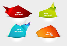 Set of message bubbles. Royalty Free Stock Photography