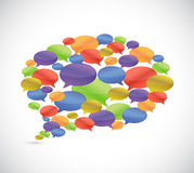 Set of message bubbles. illustration design Stock Photo