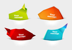 Set of message bubbles in pocket for your text. Royalty Free Stock Image