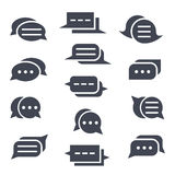 Set of message icons. Different speech bubbles. Royalty Free Stock Photo