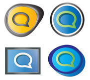 Set of message icons. Vector set of message icons. Four style variations Royalty Free Stock Photo