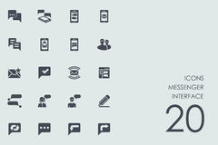 Set of messenger interface icons Royalty Free Stock Images