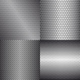 Set of metal background Royalty Free Stock Photos