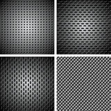 Set of metal background Royalty Free Stock Photo