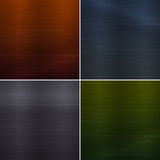 Set of metal background textures Royalty Free Stock Images