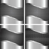 A set of metal backgrounds 2 Stock Image