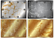 A set of metal backgrounds Royalty Free Stock Photos