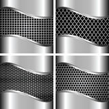 A set of metal backgrounds 3 Stock Image