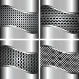 A set of metal backgrounds 4 Stock Photo