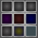 Set of metal backgrounds  Stock Image