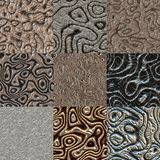 Set of metal bumps seamless generated textures Stock Photography