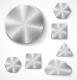 Set of metal buttons Royalty Free Stock Image
