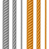 Set of Metal Cables Royalty Free Stock Photos