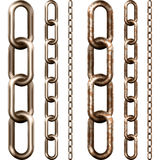 Set of metal chain Stock Image
