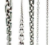 Set of metal chains Royalty Free Stock Photos