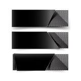 Set of metal chrome banner on white background Royalty Free Stock Photography
