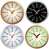 Set of metal clock Stock Photo