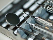 Set of Metal Dental Equipment Stock Photo