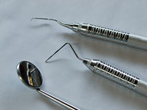Set of Metal Dental Equipment Stock Photos
