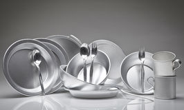 Set of dishes Royalty Free Stock Image