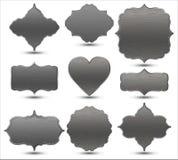 Set of metal frames. Vector Illustration Stock Photo