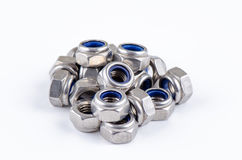 Set metal hex nut Royalty Free Stock Photos