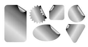 Set of metal labels Royalty Free Stock Image