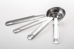 Set of metal measuring spoons . Stock Photography