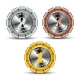 Set of medallions royalty free illustration