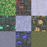 Set of metal pattern generated textures Stock Photography