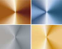 A set of metal plates Stock Photo
