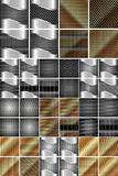 Set of metal texture. Set of steel and gold metal texture for your design Royalty Free Stock Photos