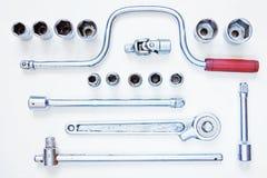Set of metal tools Stock Photo