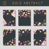 Set of metallic abstract brochures Stock Photo
