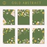 Set of metallic abstract brochures Royalty Free Stock Image