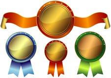 Set metallic awards Stock Image