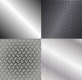 Set of metallic backgrounds Stock Images