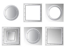 Set of metallic frames Stock Photo