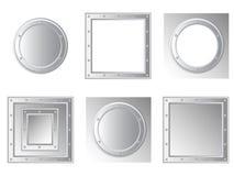 Set of metallic frames Stock Photo