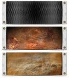 Set of Metallic Headers Royalty Free Stock Images