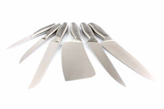 Set of metallic knifes Stock Photography