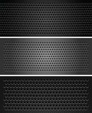 Set metallic perforated sheet Royalty Free Stock Image